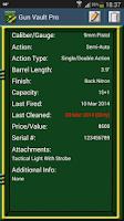 Screenshot of Gun Vault Pro
