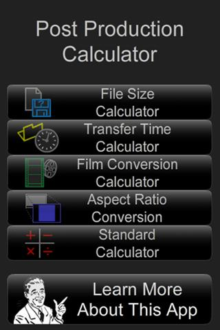 Post Production Calculator
