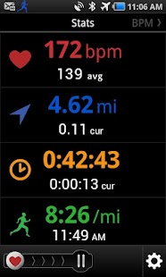 iCardio GPS Heart Rate Trainer Fitness app screenshot for Android