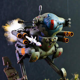 Search & Destroy  by Loke Inkid - Artistic Objects Toys ( missile, toy, robot, armed, fire, , object )