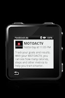 Screenshot of MOTOACTV plugin for Facebook.