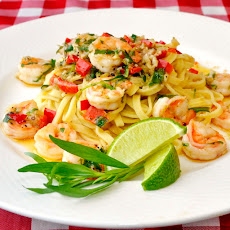 Tarragon Lime Shrimp Scampi