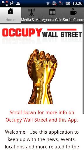 Occupy Wall Street App