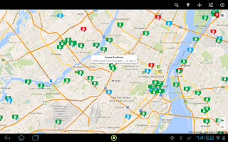 Screenshot of EV Charging Stations Map App
