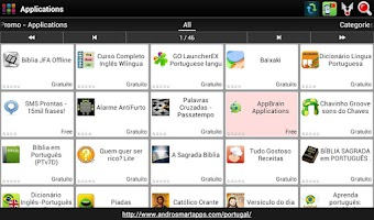 Screenshot of Portuguese applications
