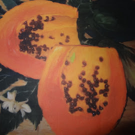 papaya by Elaine Lester - Digital Art Things