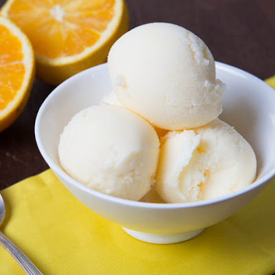 Orange Creamsicle Frozen Yogurt