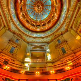 Rotunda by Dave Clark - Buildings & Architecture Other Interior ( rotunda, topeka, statehouse, dome, capital, kansas, Architecture, Ceilings, Ceiling, Buildings, Building )