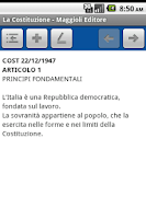 Screenshot of La Costituzione Italiana