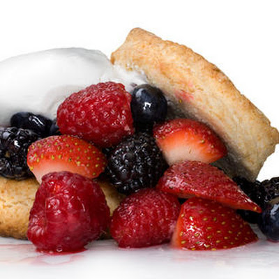Mixed Berry Shortcakes with Whipped Cream
