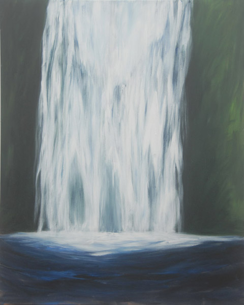 Bridal Falls <br> Acrylic paint on canvas <br> 40 x 18 in