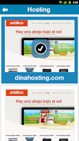 Screenshot of dinahosting