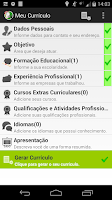 Screenshot of Curriculum vitae,resume