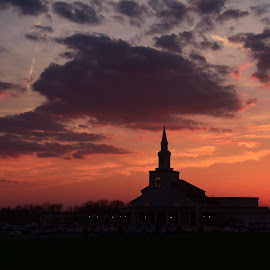 Church  by Nik Atkins - Buildings & Architecture Places of Worship ( church, silhouette, preach, sunset, tabernacle )