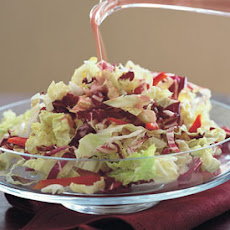 Savoy Cabbage and Radicchio Slaw with Blood Orange Dressing