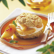 Peaches and Cream Shortcakes with Cornmeal-Orange Biscuits