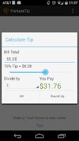 Screenshot of Fortune Cookie Tip Calculator