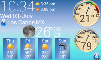 Screenshot of S4 Weather &Temperature Widget