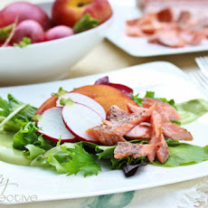 Smoked Trout Salad with Avocado Dressing