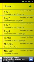 Screenshot of Workout Logger