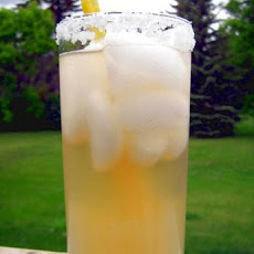 Sparkling Honey Lemonade in Citrus-Salt Rimmed Glasses