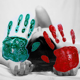 by Dalia Kager - People Body Parts ( selective color, pwc )