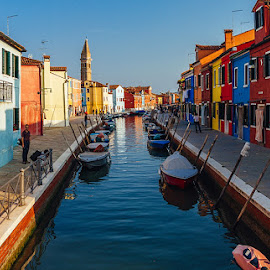 by Adeline Tan - Buildings & Architecture Other Exteriors ( buildings, burano, venice, italy, colours, , water, device, transportation )