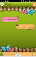 Screenshot of GO SMS - Retro Butterfly Dot