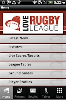 Screenshot of Love Rugby League