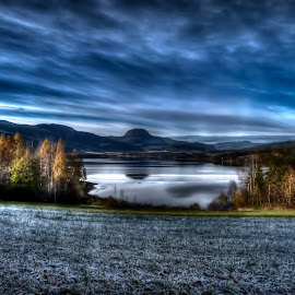by Johannes Mikkelsen - Landscapes Weather ( canon, g11, grass, heaven, beautiful, sea, forest, lake, norway, field, mystic, mountains, sky, awesome, blue, skyporn, trees, norge )
