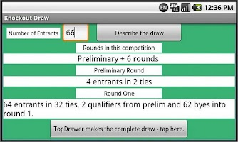 Screenshot of Knockout Draw