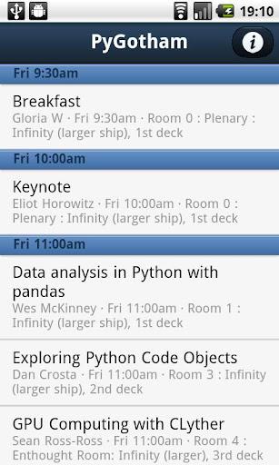 PyGotham Conference App