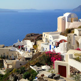 A unique place in the world - Santorini  by Eva Ba - Landscapes Travel ( magic, beautiful, summer, travel, view, santorini )