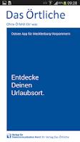 Screenshot of Ostsee-App von Das Örtliche