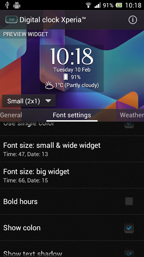 Digital Clock Widget Xperia Screenshot 7