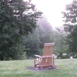 Yard Chair by Constance S. Jackson - Artistic Objects Furniture ( chair, nature, yard, outdoors, relaxing, Chair, Chairs, Sitting )