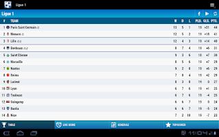 Screenshot of Ligue 1 Soccer
