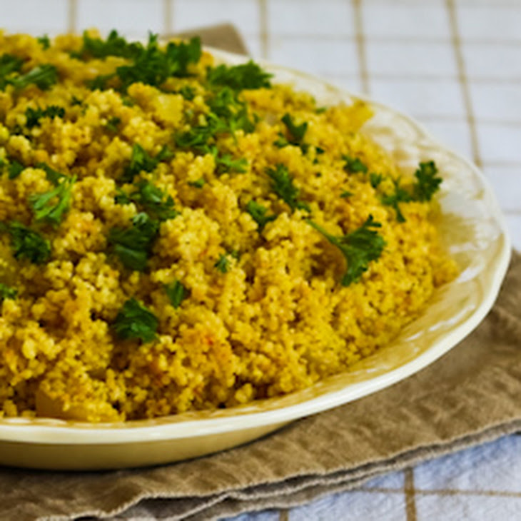 Whole Wheat Couscous With Saffron And Onions Recipe — Dishmaps