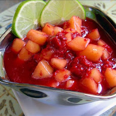 Melon and Raspberry Compote