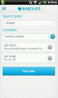 Screenshot of Barclays Jobs