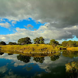 Cloud Reflections by Donald Cain - Landscapes Cloud Formations