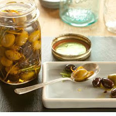 Marinated Olives with Rosemary and Orange Peel