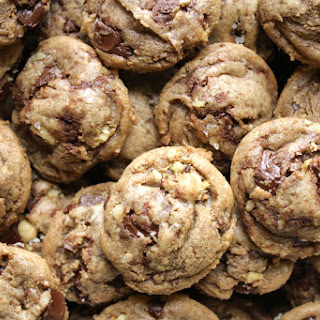 Brown Butter Walnut Chocolate Chunk Cookies with Sea Salt