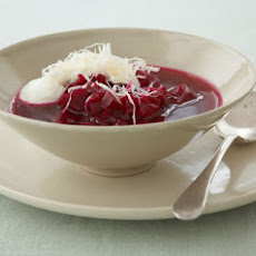 Beet Soup with Horseradish Cream
