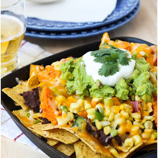 Sweet Potato Nachos with Heirloom Tomato & Corn Salsa