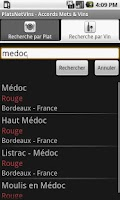 Screenshot of Accords Mets & Vins