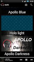 Screenshot of Theme Apollo Darkness