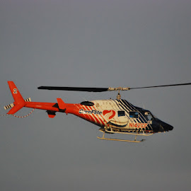 Life Line by David Sweidel - Transportation Helicopters ( blue, orange. color )