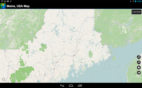Offline Maine, USA Map - screenshot