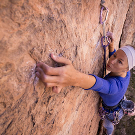 Amber's first accent by Ryan Skeers - Sports & Fitness Climbing ( utah climbing, limestone, girls, kicking ass, climb for life )